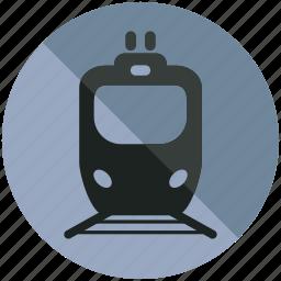 railroad, sign, train, tram, transportation icon