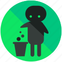 airport, clean, people, sign, trash icon
