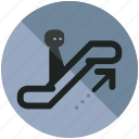 airport, arrow, escalator, sign, up, upwards icon
