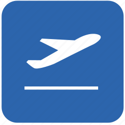 airbus, aircraft, airport, departures, runway icon