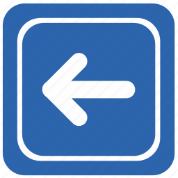 airport, arrow, direction, left icon
