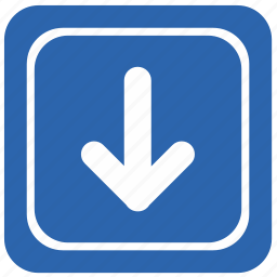 airport, arrow, bottom, direction, down icon