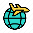 flight, tour, international, travel, airplane
