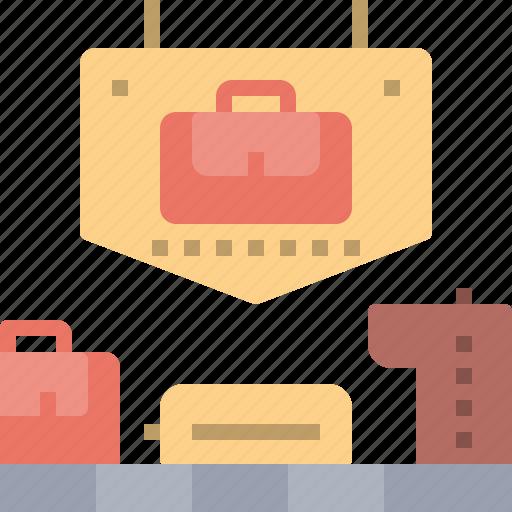 airport, bag, baggage, claim, passengers icon
