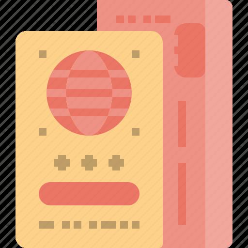 boarding, book, booking, check, flight, in, port icon