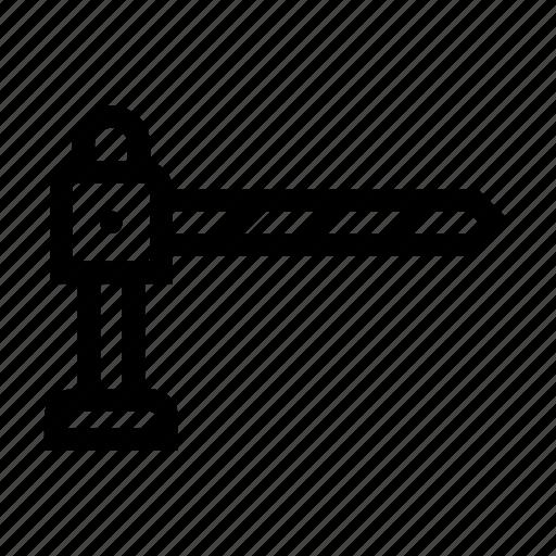 bar, barrier, division, hurdle, parking icon