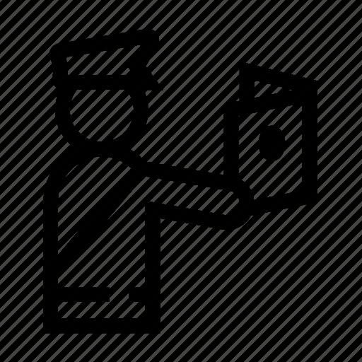 customs, document, inspection, passport, verification icon