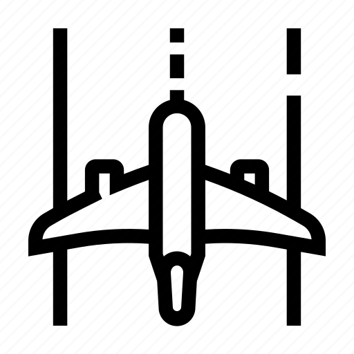 airplane, airport, departure, off, runway, take icon