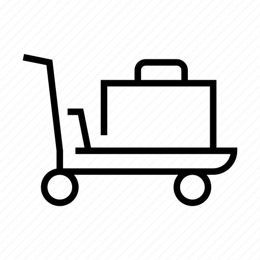 carriage, cart, laggage, luggage, trolley, truck icon