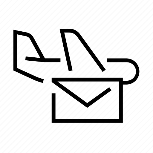 airmail, envelope, mail, message, plane icon