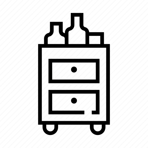 drink, food, meal, trolley icon