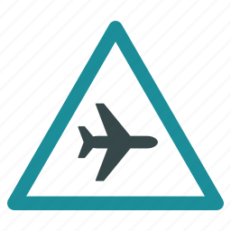 airplane, airport, attention, caution, danger, flight, warning icon