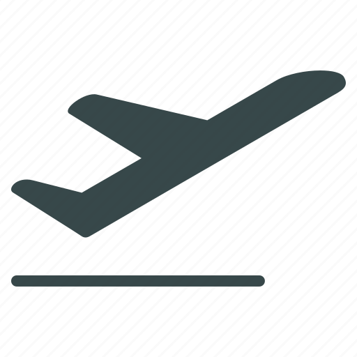 airplane, departure, flight, launch, start, take off, takeoff icon