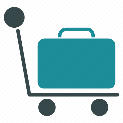 baggage, briefcase, case, luggage, suitcase, travel, trolley icon