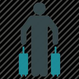 bag, baggage, case, luggage, passenger, travel, trip icon