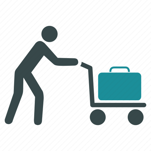 bag, basket, cart, delivery, passenger, shopping, trolley icon