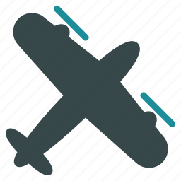aircraft, airplane, flight, plane, propeller, transportation, vehicle icon