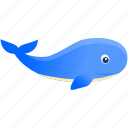 blue, fish, whale, wild icon