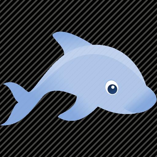 blue, dolphin, fish, gry, wild icon