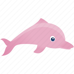 dolphin, fish, pink, wild icon
