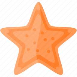 oranje, starfish, wild icon
