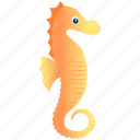 oranje, sea horse, wild icon