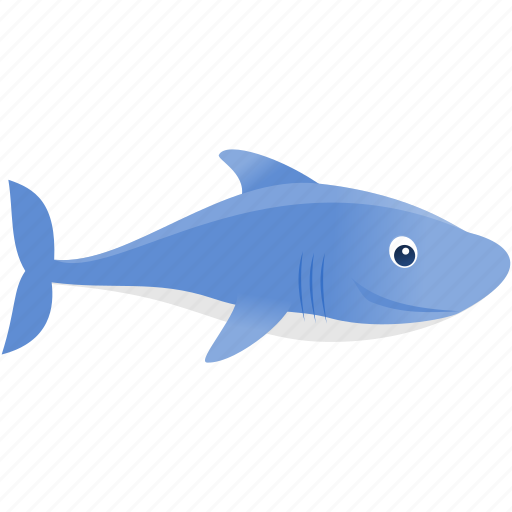 blue, shark, wild icon