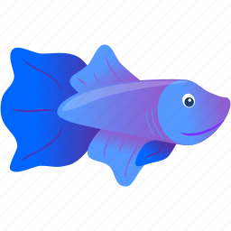 blue, domestic, fish, purple, wild icon