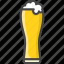 alcohol, beer, beverage, filled, food, glass, outline