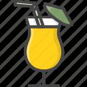 alcohol, beverage, cocktail, filled, food, outline