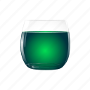 absinthe, alcohol, drink, green icon