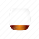 alcohol, almost, cognac, empty, orange, rum, whisky icon