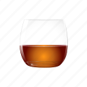alcohol, cognac, full, half, orange, rum, whisky icon