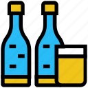 alcohol, beer, bottles, cocktail, drink, glass, wine icon