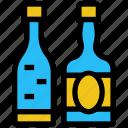 alcohol, bar, beer, bottles, cocktail, drink, wine