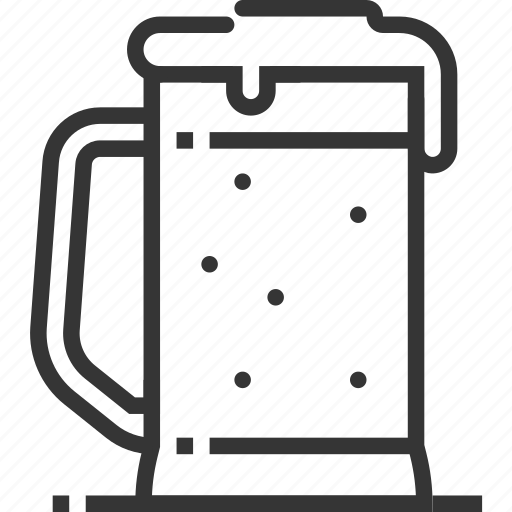 alcohol, bar, beer, beverage, glass, mug, restaurant icon