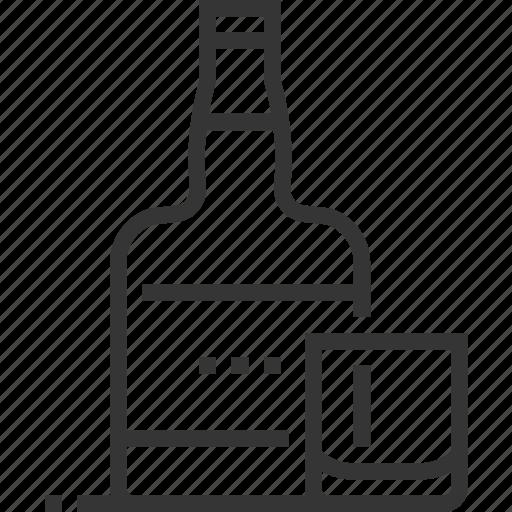 alcohol, bar, beverage, bottle, glass, restaurant, whiskey icon