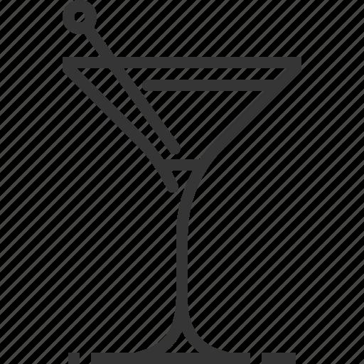 alcohol, bar, beverage, glass, martini, olive, restaurant icon