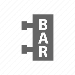 bar, label icon