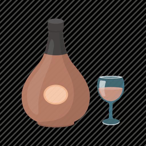 alcohol, beverage, bottle, brandy, cognac, drink, glass icon