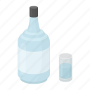 alcohol, beverage, bottle, drink, gin, glass icon