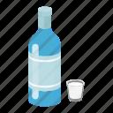 alcohol, bottle, drink, glass, vodka, beverage