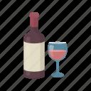 alcohol, bottle, drink, glass, red, wine, beverage