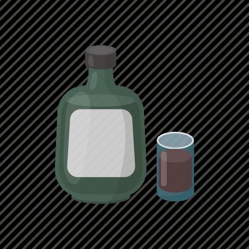alcohol, beverage, bottle, cocktail, drink, glass, herbal liqueur icon