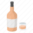 alcohol, beverage, bottle, cocktail, drink, glass, whiskey icon