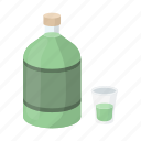 absinthe, alcohol, beverage, bottle, cocktail, drink, glass icon