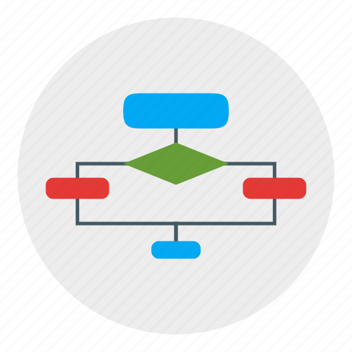 algorithm, diagram, flowchart, usability, workflow icon