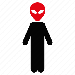 alien, creature, fantasy, humanoid, monster, ufo, visitor icon
