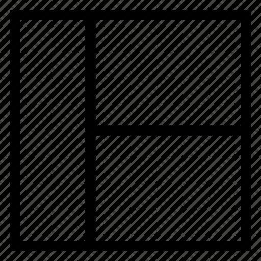 design, menu, right, template, view icon