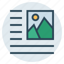 align, document, picture, right, text icon